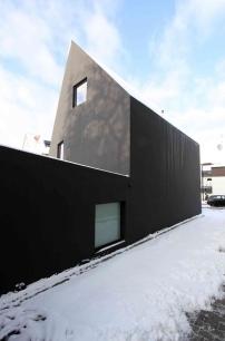 Schwarzes Haus wohnhaus bei karlsruhe fertig schwarzes schaf architektur und