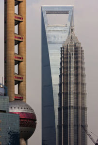 Oriental Pearl Tower, Shanghai World Financial Center, Jin Mao Building, 2010