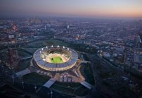 Silber: Olympic Stadium in London von Populous