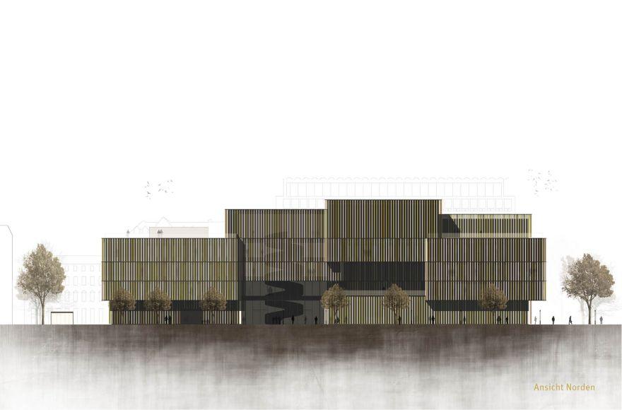 Abschlussarbeit stadtbibliothek wiesbaden nils fr hlich hochschule rheinmain campus masters - Architektur ansicht ...