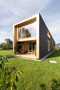einfamilienhaus in sterreich schmale enfilade architektur und architekten news. Black Bedroom Furniture Sets. Home Design Ideas