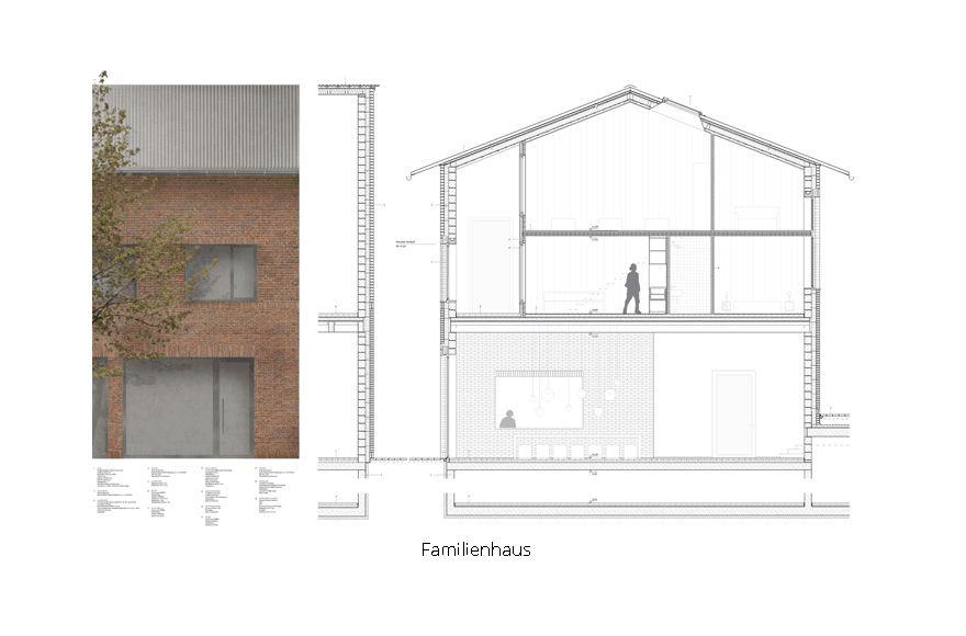 Abschlussarbeit fl chtlingsherberge mit migrationszentrum for Familienhaus berlin
