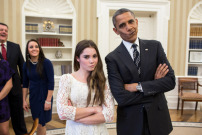 Barack Obama mit McKayla Maroney
