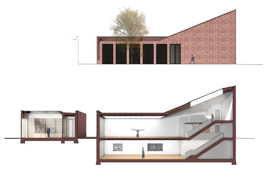 Oberlicht schnitt  Abschlussarbeit: Ein Kunsthaus , Andrej Harton/ Technische ...