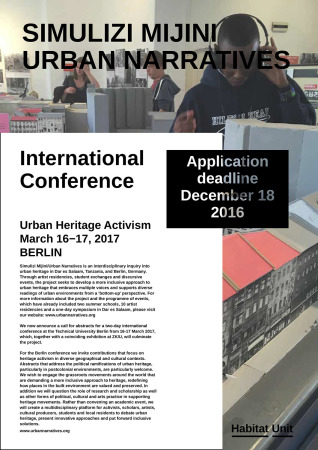 Urban Heritage Activism - Call for Proposals für Konferenz in Berlin