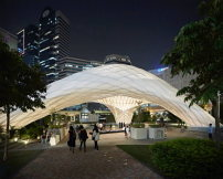 "Ausgezeichnet als ""Small Project of the Year Winner 2016"": The Chinese University of Hong Kong School of Architecture, ZCB Bamboo Pavilion in Hong Kong"