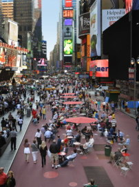 Gehl Architects, Transformation des Times Square, New York City, 2009
