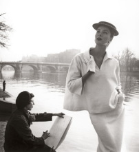 Luise Dahl Wolfe, Suzy Parker by the Seine, Costume by Balenciaga 1953, Collection Staley Wise Gallery