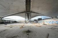 So sieht die 2.300 Quadratmeter große Halle mit selbsttragendem Dach gegenwärtig aus.